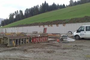 Unterbau Rinderstall Oberwölz Salchau